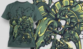 T-shirt Design 536 T-shirt Designs and Templates vector