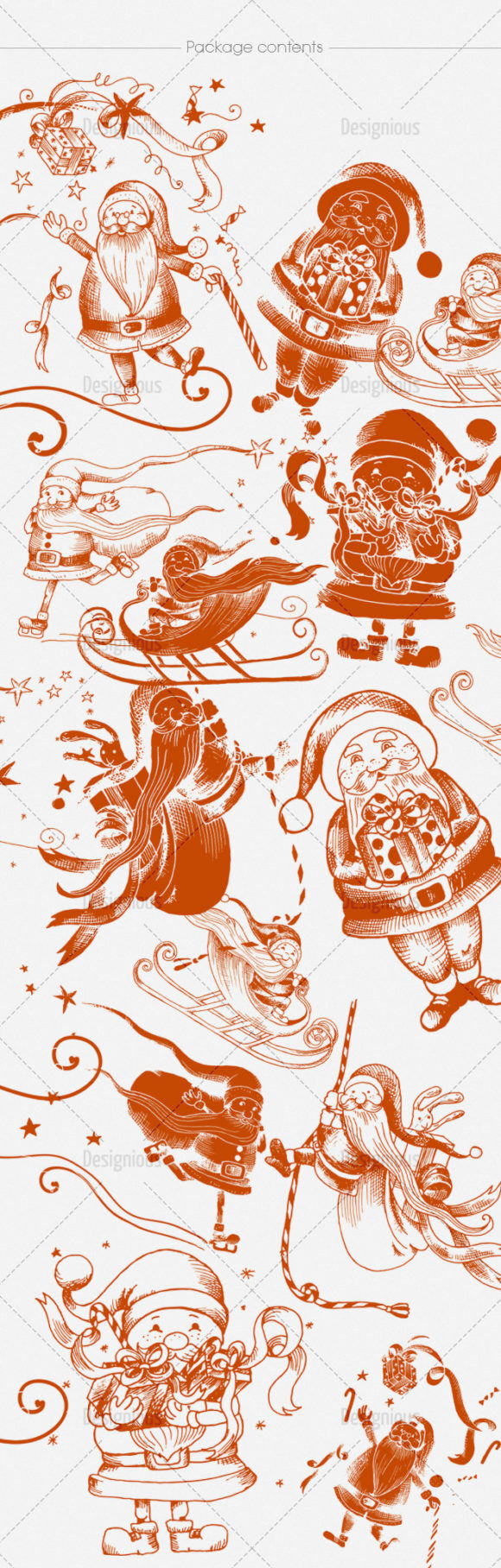Santa Claus Brushes Pack 12 Holiday brushes [tag]