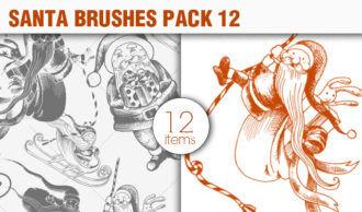 Santa Claus Brushes Pack 12 Holiday brushes [tag]
