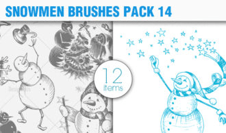Snowmen Brush Pack 14 Holiday brushes [tag]
