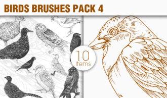 Birds Brushes Pack 4 Nature brushes [tag]