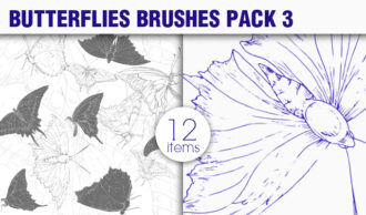Butterflies Brushes Pack 3 Nature brushes [tag]