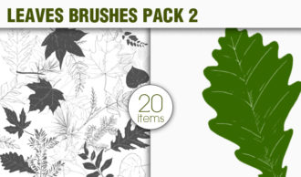 Leaves Brushes Pack 2 Nature brushes [tag]