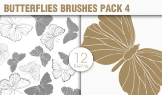 Butterflies Brushes Pack 4 Nature brushes [tag]