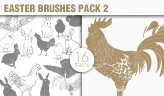 Easter Brushes Pack 2 Holiday brushes [tag]