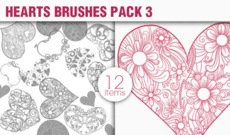 Hearts Brushes Pack 3 People brushes [tag]