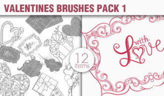 Valentines Day Brushes Pack 1 Holiday brushes [tag]