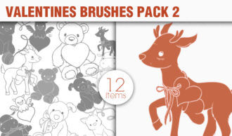 Valentines Day Brushes Pack 2 Holiday brushes [tag]