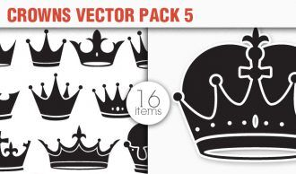 Crowns Vector Pack 5 Heraldry [tag]