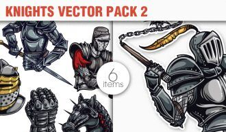 Knights Vector Pack 2 Heraldry [tag]