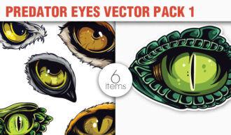 Predator Eyes Vector Pack 1 Nature [tag]