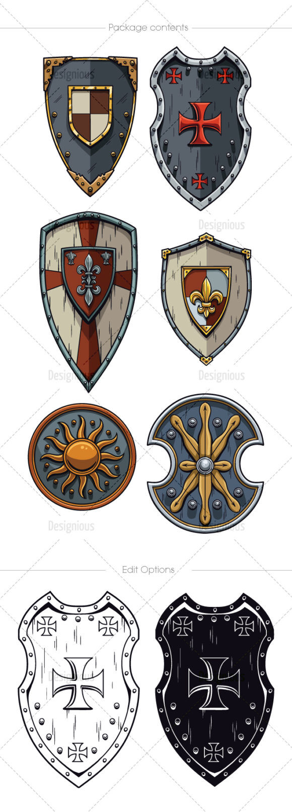 Shields Vector Pack 5 Vector packs [tag]