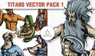 Greek Mythological Titans Vector Pack 1 Religion [tag]