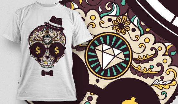 T-shirt Design 673 T-shirt Designs and Templates vector