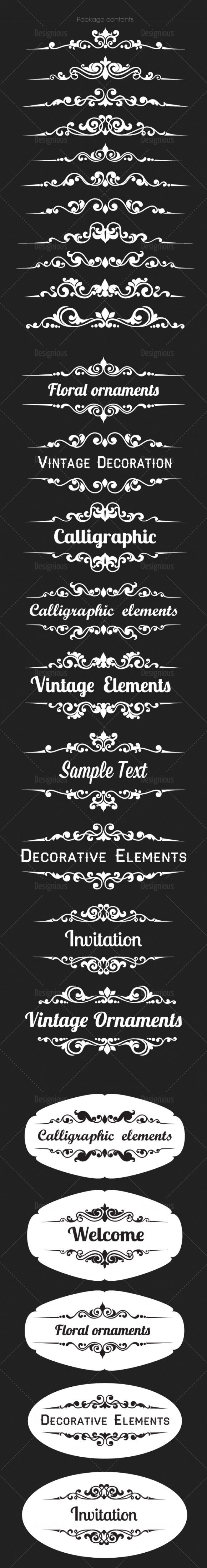 Ornamental Floral Vector Pack 151 Floral [tag]