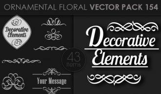 Ornamental Floral Vector Pack 154 Floral [tag]
