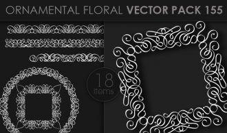 Ornamental Floral Vector Pack 155 Floral [tag]