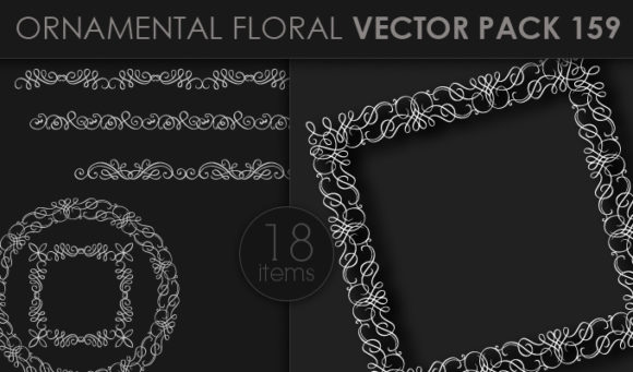 Ornamental Floral Vector Pack 159 Floral [tag]