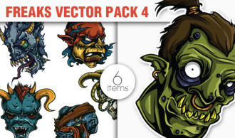Freaks Vector Pack 4 Sport, Mascots & Cartoons [tag]