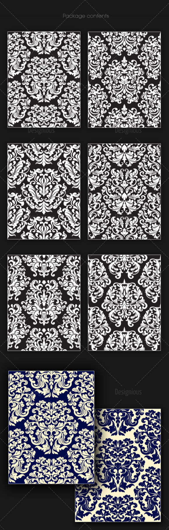 Seamless Patterns Vector Pack 145 Vector Patterns [tag]