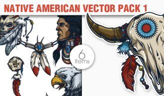 Native American Vector Pack 1 People [tag]
