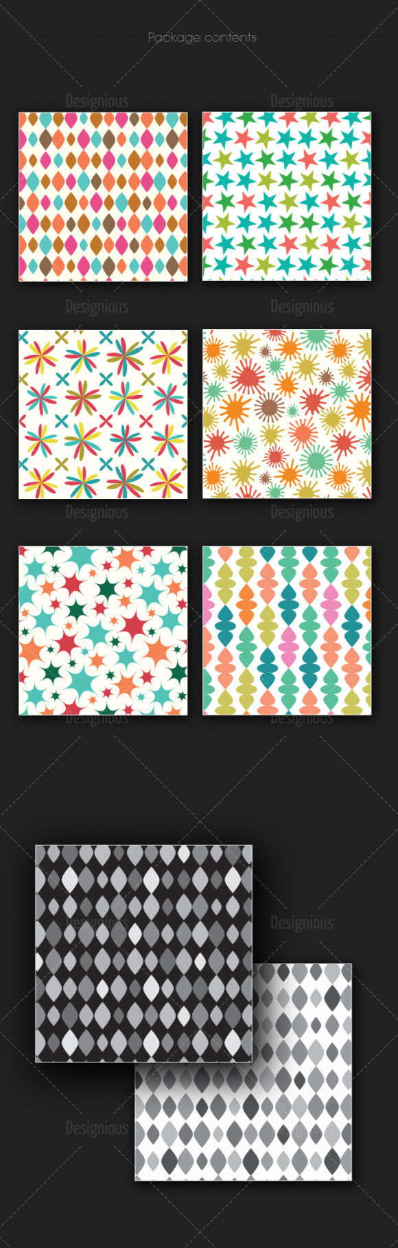 Seamless Patterns Vector Pack 167 Vector Patterns [tag]