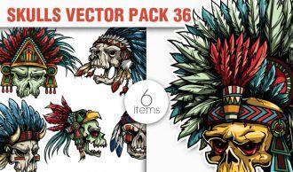 Skulls Vector Pack 36 Skulls [tag]