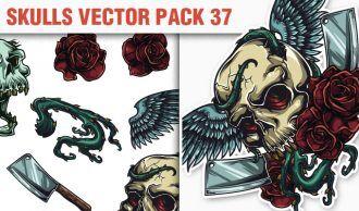 Skulls Vector Pack 37 Skulls [tag]