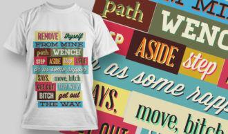 T-shirt Design 754 T-shirt Designs and Templates vector
