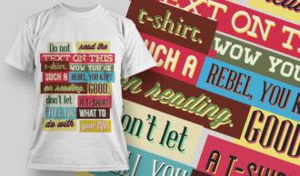 T-shirt Design 755 T-shirt Designs and Templates vector