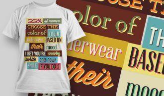 T-shirt Design 758 T-shirt Designs and Templates vector