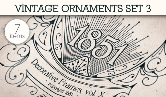 Free Vintage Ornaments Vector Pack 3 Floral [tag]