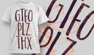T-Shirt Design 1235 T-shirt Designs and Templates vector