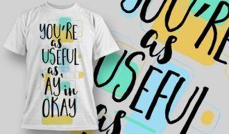 T-Shirt Design 1252 T-shirt Designs and Templates vector