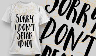 T-Shirt Design 1254 T-shirt Designs and Templates vector