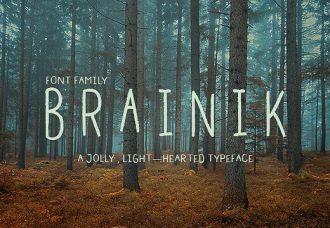 Brainik Font Family Freebies light
