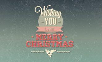 Christmas day typographic elements Typographic Templates christmas