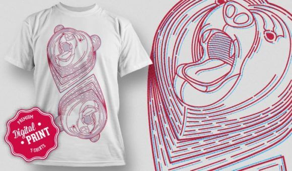 T-Shirt Design Plus – Bear T-shirt Designs and Templates vector