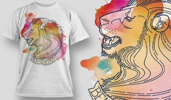 T-Shirt Design Plus – Lion T-shirt Designs and Templates vector