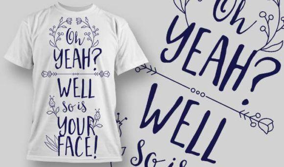 T-Shirt Design 1318 T-shirt Designs and Templates vector