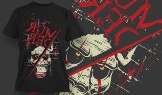 T-Shirt Design 1340 T-shirt Designs and Templates vector