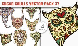 Sugar Skulls Vector Pack 37 Vector packs lion