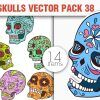 Sugar Skulls Vector Pack 37 Vector packs lion