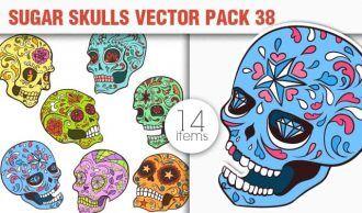 Sugar Skulls Vector Pack 38 Vector packs halloween