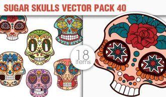 Sugar Skulls Vector Pack 40 Vector packs halloween