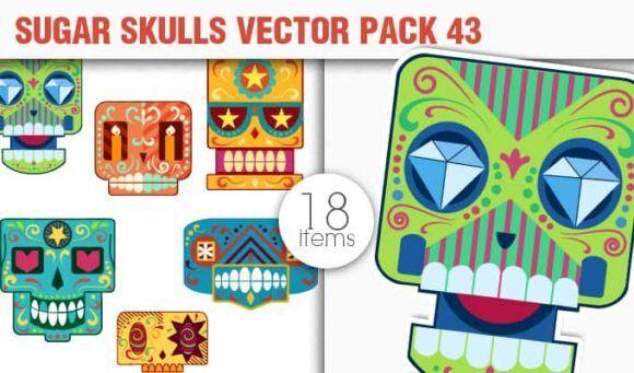 Sugar Skulls Vector Pack 43 Vector packs halloween
