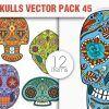 Sugar Skulls Vector Pack 41 Vector packs halloween
