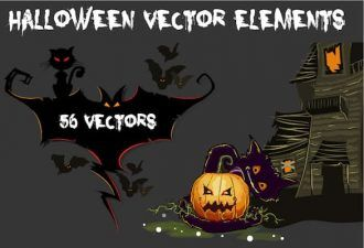 Halloween vector Elements Vector packs zombie