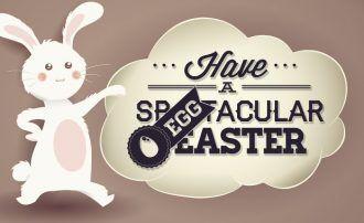Easter typographic elements Typographic Templates joy