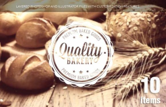 Food badges set 1 Typographic Templates stamp